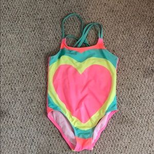Never worn sweet sparkly one piece bathing suit